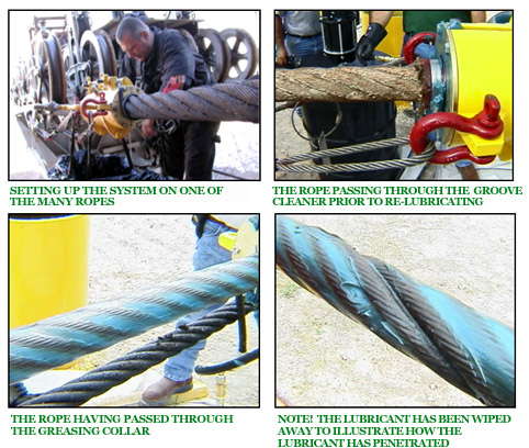 Wire Rope Lubrication from RJ Mellor & Co ltd
